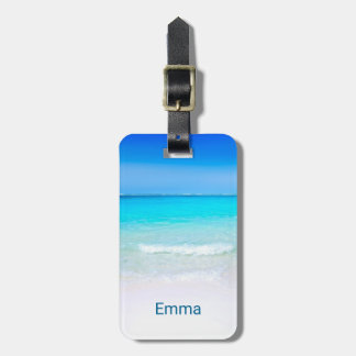 Tropical Beach with a Turquoise Sea Luggage Tag