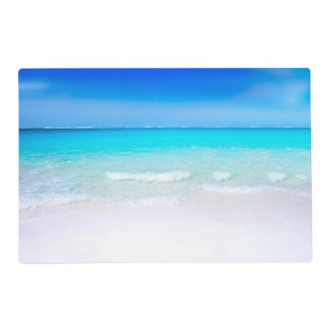 Beach Themed Tropical Beach with a Turquoise Sea Placemat