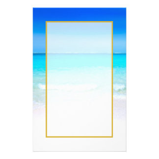 Tropical Beach with a Turquoise Sea Stationery