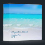 """Tropical Beach with a Turquoise Sea Wedding Plans 3 Ring Binder<br><div class=""""desc"""">A binder personalized with your info such as Wedding Plans,  travel plans or whatever suits your needs. Designed with a scenic tropical beach. A gorgeous turquoise sea in the distance and crystal clear waters caressing a sandy beach. A bright blue sky in the background.</div>"""