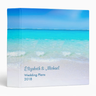 Tropical Beach with a Turquoise Sea Wedding Plans 3 Ring Binder