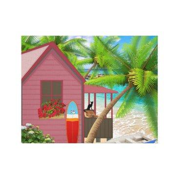 Beach Themed Tropical Beach Wrapped Canvas