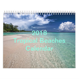 Tropical Beaches Calendar 2018 - Two Page Wall