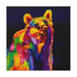 Tropical Bear Wood Canvas