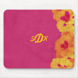 Tropical Beauty Mongrammed Mouse Pad