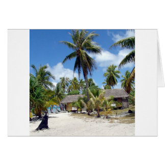 Tropical Bed And Breakfast Greeting Card