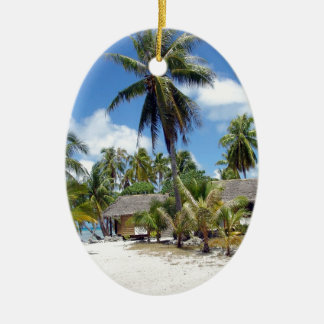 Tropical Bed And Breakfast Ceramic Ornament