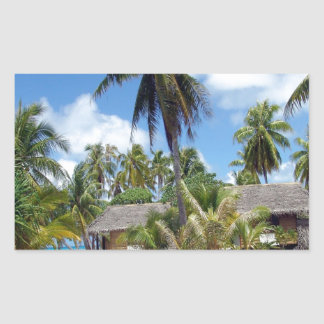 Tropical Bed And Breakfast Rectangular Sticker
