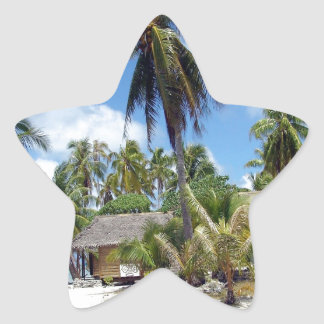 Tropical Bed And Breakfast Star Sticker