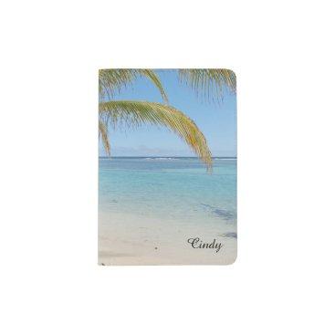 Beach Themed Tropical Belize Beach Caribbean Sea Seascape Passport Holder