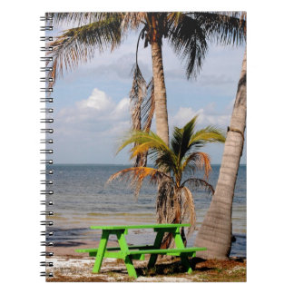 Tropical bench ocean Notebook