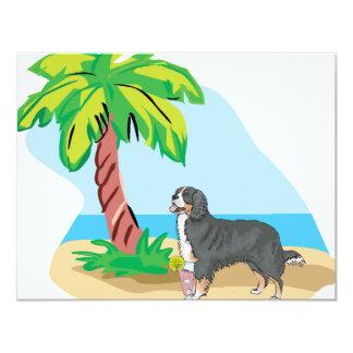 tropical bernese mountain dog card