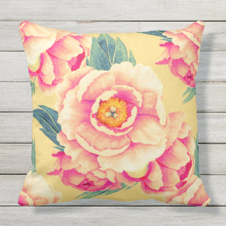 Tropical Big Flower Double Sided Outdoor Pillow