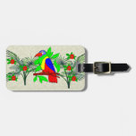 Tropical Bird and Flowers Bag Tag