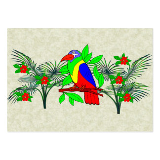 Tropical Bird and Flowers Large Business Cards (Pack Of 100)