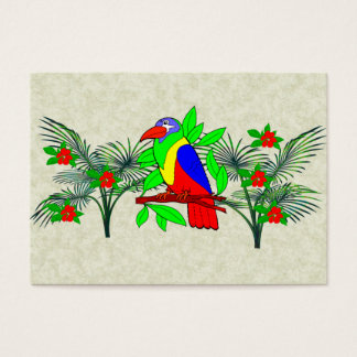 Tropical Bird and Flowers Business Card