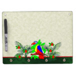 Tropical Bird and Flowers Dry Erase Whiteboard