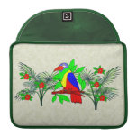 Tropical Bird and Flowers MacBook Pro Sleeves