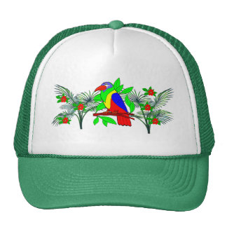 Tropical Bird and Flowers Trucker Hat