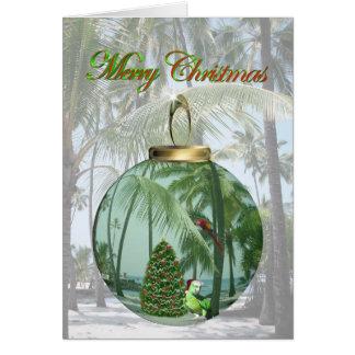 Tropical Bird Christmas Card