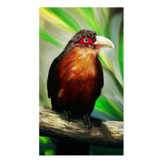 Tropical Bird cool colourful exotic painting art Business Card