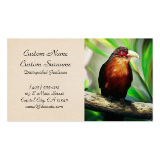 Tropical Bird cool colourful exotic painting Business Card Template