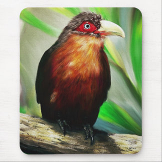 Tropical Bird cool colourful exotic painting Mouse Pad