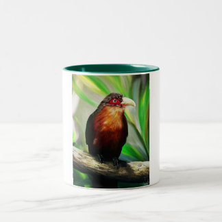 Tropical Bird cool colourful exotic painting Two-Tone Coffee Mug