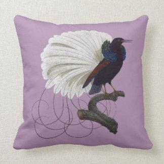 Tropical bird of paradise throw pillow