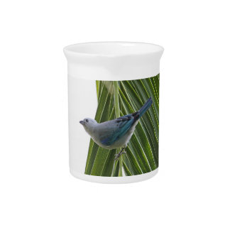 Tropical Bird Picture on Palm Tree Pitchers