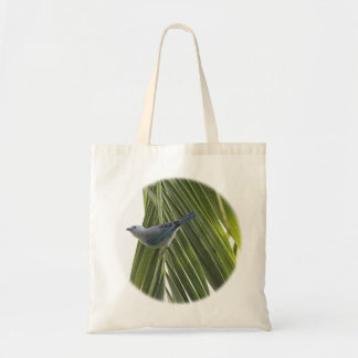 Tropical Bird Picture on Palm Tree Tote Bag