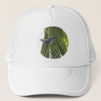 Tropical Bird Picture on Palm Tree Trucker Hat