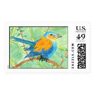 Tropical bird stamps