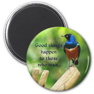 Tropical Bird Quote Magnet