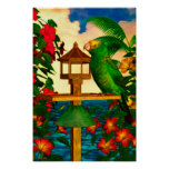 "Tropical Birds 1 ""Parrots"" Poster"