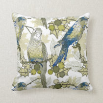 Tropical Birds and Flowers Pillows