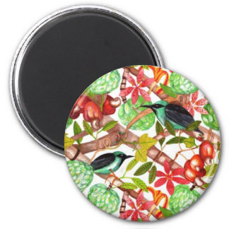 Tropical birds and Fruits Magnet