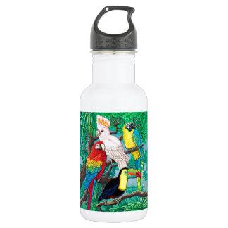 Tropical Birds Bottle 18oz Water Bottle