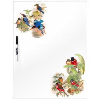 Tropical Birds Dry Erase Board