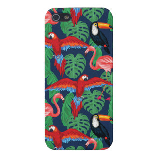 Tropical Birds In Bright Colors Cover For iPhone SE/5/5s