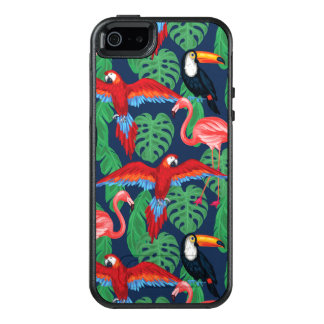 Tropical Birds In Bright Colors OtterBox iPhone 5/5s/SE Case