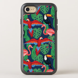 Tropical Birds In Bright Colors OtterBox Symmetry iPhone 8/7 Case