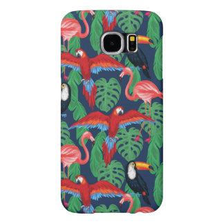 Tropical Birds In Bright Colors Samsung Galaxy S6 Case