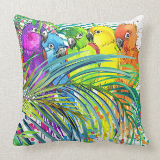 Tropical Birds of a Feather Pillow