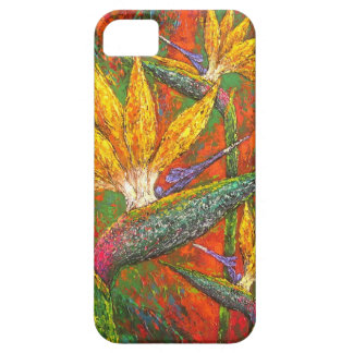 Tropical Birds Of Paradise Flowers Painting Art iPhone SE/5/5s Case