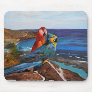 Tropical Birds Overlooking the Bay Mouse Pad