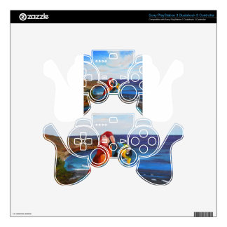 Tropical Birds Overlooking the Bay PS3 Controller Decal