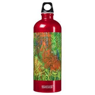 Tropical Birds Picture. Aluminum Water Bottle