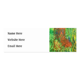 Tropical Birds Picture. Double-Sided Mini Business Cards (Pack Of 20)