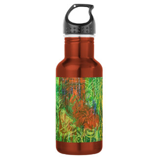 Tropical Birds Picture. Water Bottle